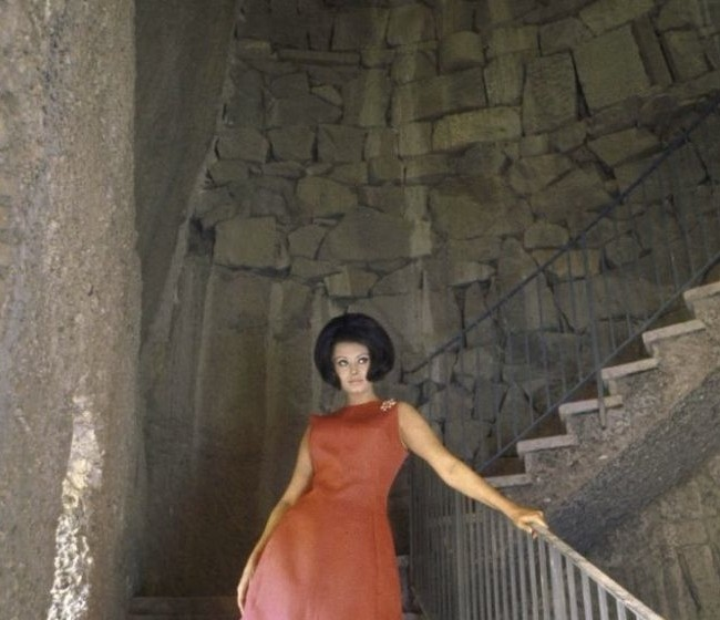 sophia loren in a red dress