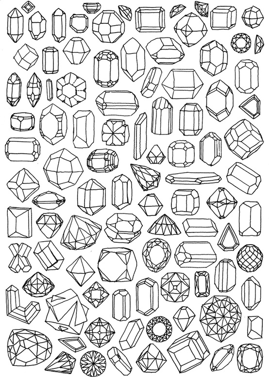 diamond coloring pages print outs - photo#28