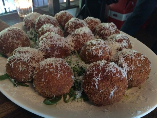 Special mention to the excellent arancini at Mission E2 in Bethnal Green London