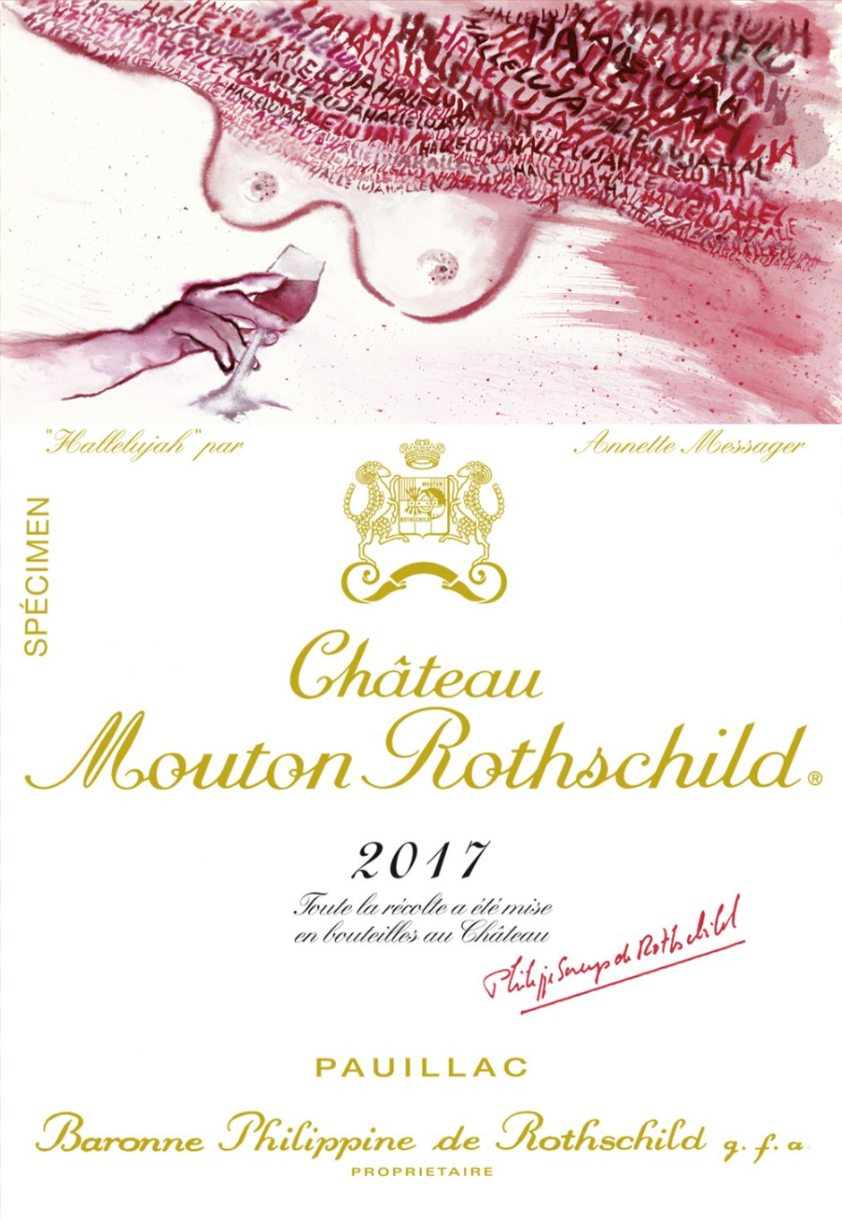 Mouton Rothschild 2017 Label