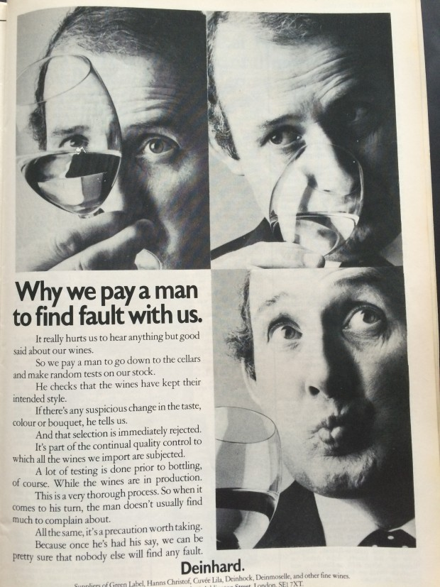 wine advertising 1976