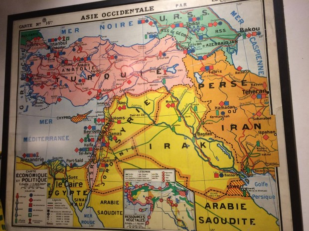 Old French school map of the Middle East