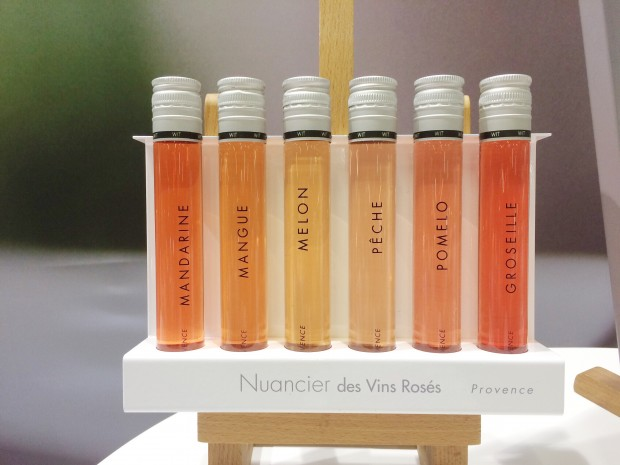 The colours of Provence rosé in detail