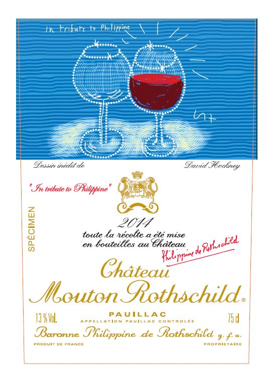 2014 Mouton Rothschild label